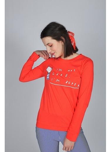 Hays Pijama Üst Kırmızı